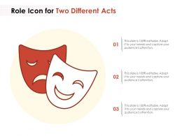 Role Icon For 2 Different Acts