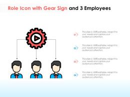 Role Icon With Gear Sign And 3 Employees