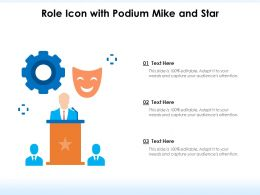 Role Icon With Podium Mike And Star