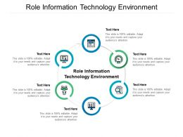 Role Information Technology Environment Ppt Powerpoint Presentation Inspiration Clipart Cpb