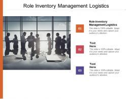 Role Inventory Management Logistics Ppt Powerpoint Presentation Inspiration Smartart Cpb