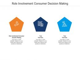 Role Involvement Consumer Decision Making Ppt Powerpoint Presentation File Gallery Cpb