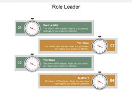Role Leader Ppt Powerpoint Presentation Pictures Gallery Cpb