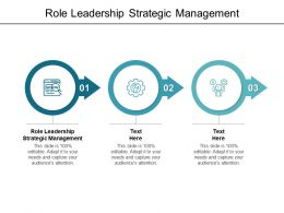 Role Leadership Strategic Management Ppt Powerpoint Presentation Model Graphics Cpb