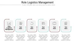 Role Logistics Management Ppt Powerpoint Presentation Summary Gridlines Cpb