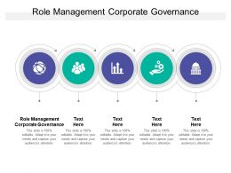 Role Management Corporate Governance Ppt Powerpoint Presentation Images Cpb
