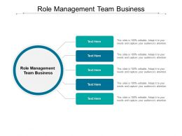 Role Management Team Business Ppt Powerpoint Presentation Outline Outfit Cpb