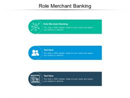 Role Merchant Banking Ppt Powerpoint Presentation Model Smartart Cpb
