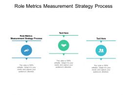 Role Metrics Measurement Strategy Process Ppt Powerpoint Presentation Slides Cpb