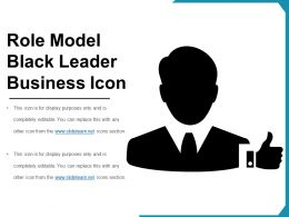 Role Model Black Leader Business Icon