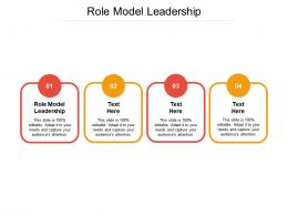 Role Model Leadership Ppt Powerpoint Presentation Ideas Structure Cpb