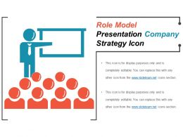 Role Model Presentation Company Strategy Icon