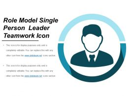 Role Model Single Person Leader Teamwork Icon