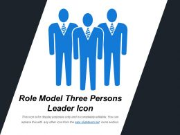 Role Model Three Persons Leader Icon