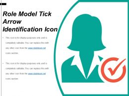 Role Model Tick Arrow Identification Icon