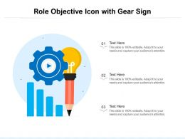 Role Objective Icon With Gear Sign
