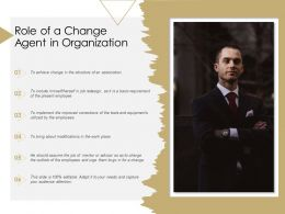 Role Of A Change Agent In Organization
