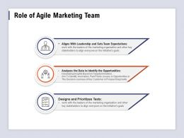 Role Of Agile Marketing Team Initiatives Goals Ppt Powerpoint Presentation Show
