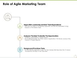 Role Of Agile Marketing Team Opportunities Ppt Powerpoint Presentation Styles Pictures