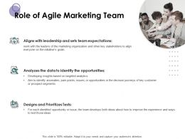 Role Of Agile Marketing Team Ppt Powerpoint Presentation File Slides