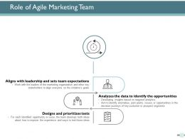 Role Of Agile Marketing Team Ppt Powerpoint Presentation Ideas Styles