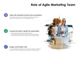 Role Of Agile Marketing Team Ppt Powerpoint Presentation Layouts