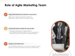 Role Of Agile Marketing Team Ppt Powerpoint Presentation Outline Files