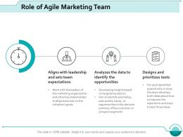 Role Of Agile Marketing Team Ppt Slides Designs Download