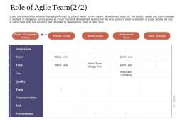 Role Of Agile Team Activity Agile Delivery Approach Ppt Rules