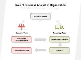 Role Of Business Analyst In Organization