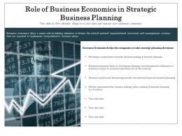 Role Of Business Economics In Strategic Business Planning