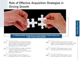 Role Of Effective Acquisition Strategies In Driving Growth