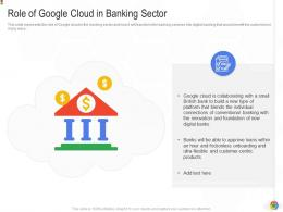 Role Of Google Cloud In Banking Sector Google Cloud IT Ppt Information