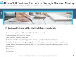 Role Of HR Business Partners In Strategic Decision Making Transforming Human Resource Ppt Rules