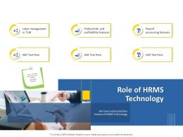 Role Of HRMS Technology M1262 Ppt Powerpoint Presentation Infographics Layout Ideas
