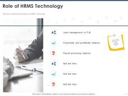 Role Of HRMS Technology Management Ppt Powerpoint Presentation Inspiration Information