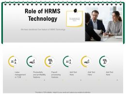 Role Of HRMS Technology Mentioned Ppt Powerpoint Presentation Gallery Layouts