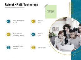 Role Of HRMS Technology Payroll Ppt Powerpoint Presentation Layouts Aids