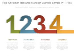 Role Of Human Resource Manager Example Sample Ppt Files