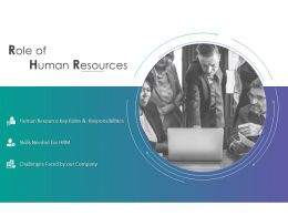 Role Of Human Resources Challenges Faced Ppt Powerpoint Presentation Infographics