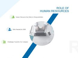 Role Of Human Resources Ppt Powerpoint Presentation Show Slide