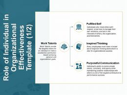Role Of Individual In Organizational Effectiveness Template Purposeful B148 Ppt Powerpoint Presentation Icon