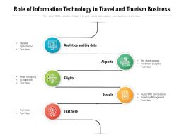 Role Of Information Technology In Travel And Tourism Business