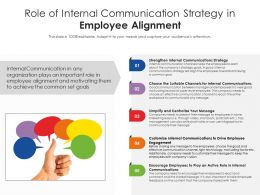 Role Of Internal Communication Strategy In Employee Alignment