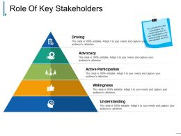 Role Of Key Stakeholders Presentation Layouts