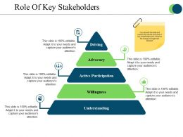 Role Of Key Stakeholders Presentation Powerpoint