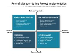 Role Of Manager During Project Implementation