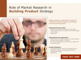 Role Of Market Research In Building Product Strategy