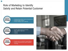 Role Of Marketing To Identify Satisfy And Retain Potential Customer