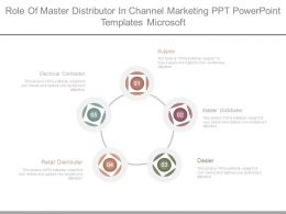 Role Of Master Distributor In Channel Marketing Ppt Powerpoint Templates Microsoft